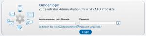 Strato - Kundenbereich login