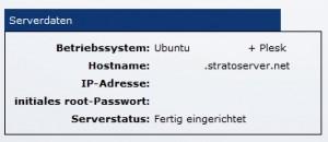 Strato - Serverdaten