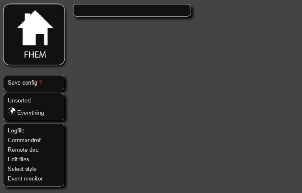 FHEM - Benutzeroberfläche - Dark Style