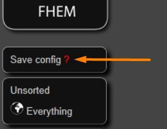 FHEM - Save Config - Änderungen Speichern