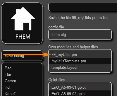 FHEM - 99_myUtils.pm aufrufen